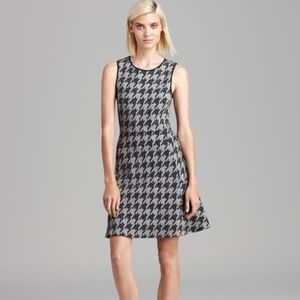 Theory Nikay Porter Check Houndstooth Dress Size 4